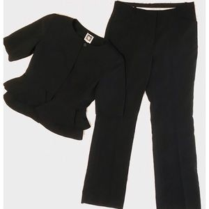 Anne Klein Black Pant Suit - 2 piece